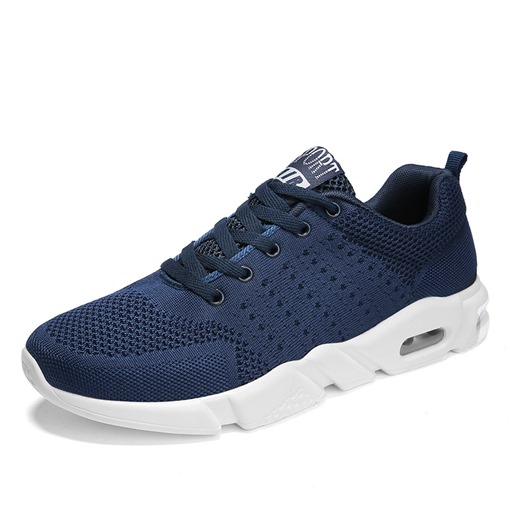 Lace-Up Low-Cut Upper Mesh Casual Men's Sneakers