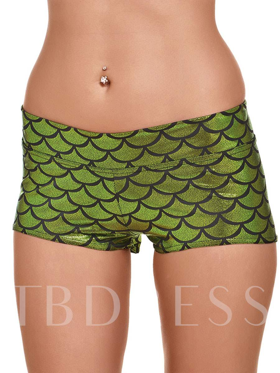 Fish Scale Print Sports Shorts