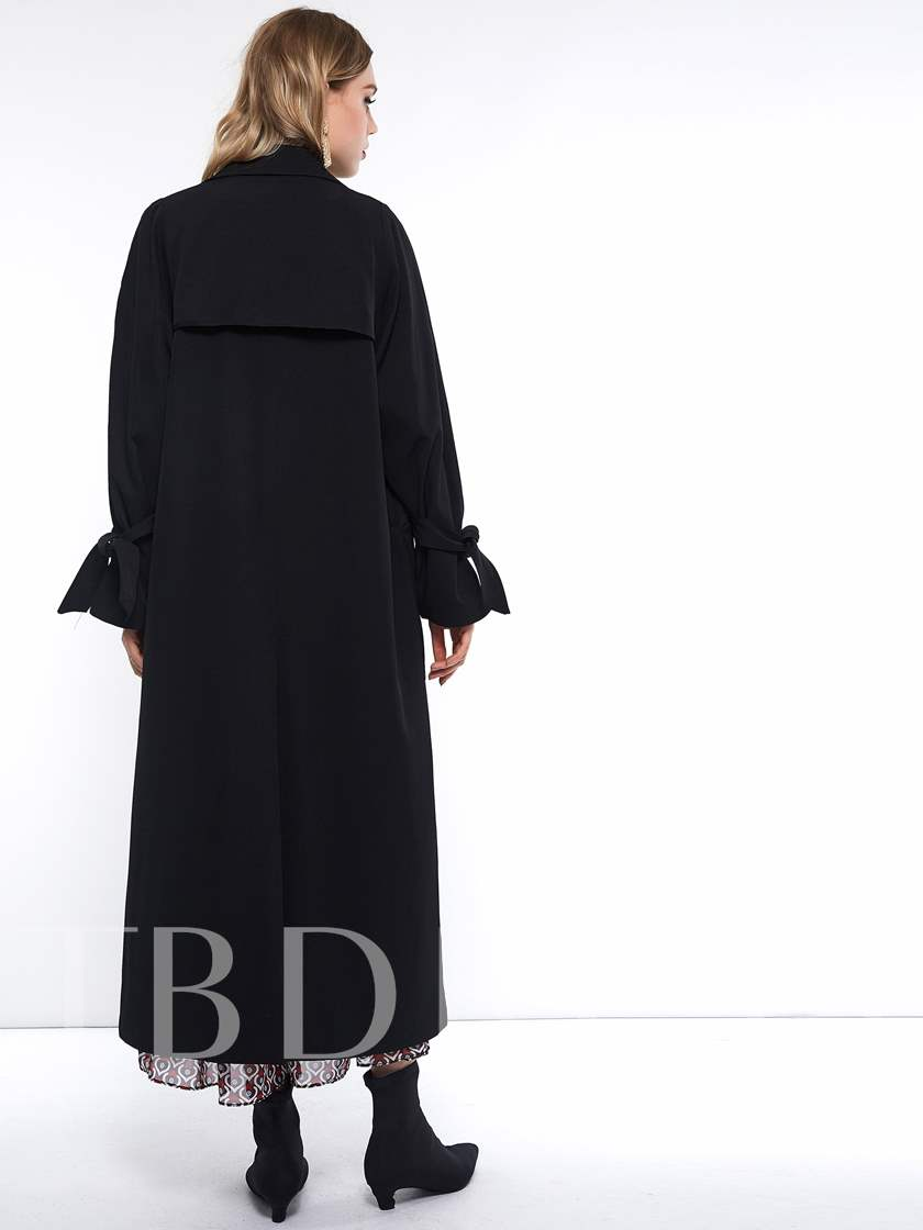 Button Straight Double-Breasted Winter Women's Overcoat