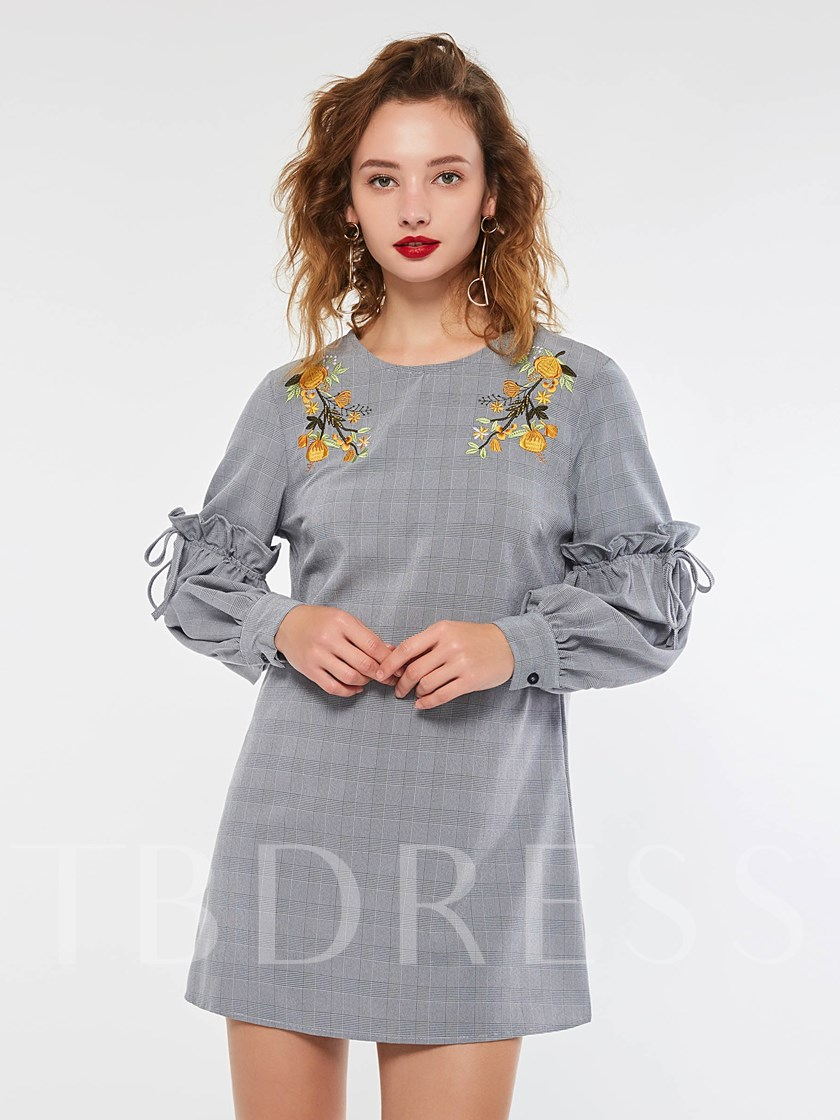 Embroidery Pullover Women's Long Sleeve Dress