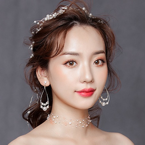 Earrings Korean Pearls Wedding Jewelry Sets