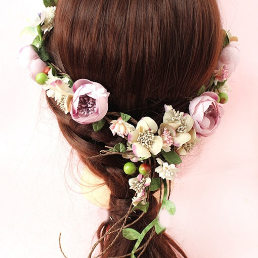Hairband Floral Korean Hair Accessories (Wedding)