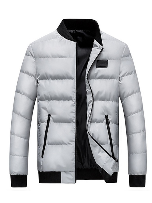 Stand Collar Thick Slim Casual Men's Down Jacket
