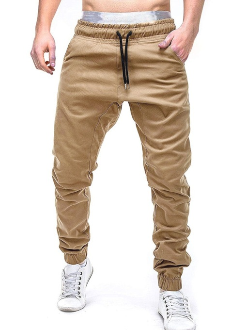 Slim Lace-Up Harem Plain Casual Men's Casual Pants