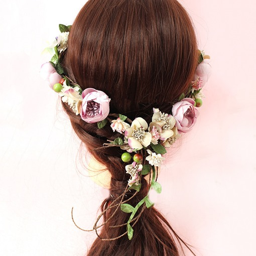 Hairband Korean Floral Wedding Hair Accessories