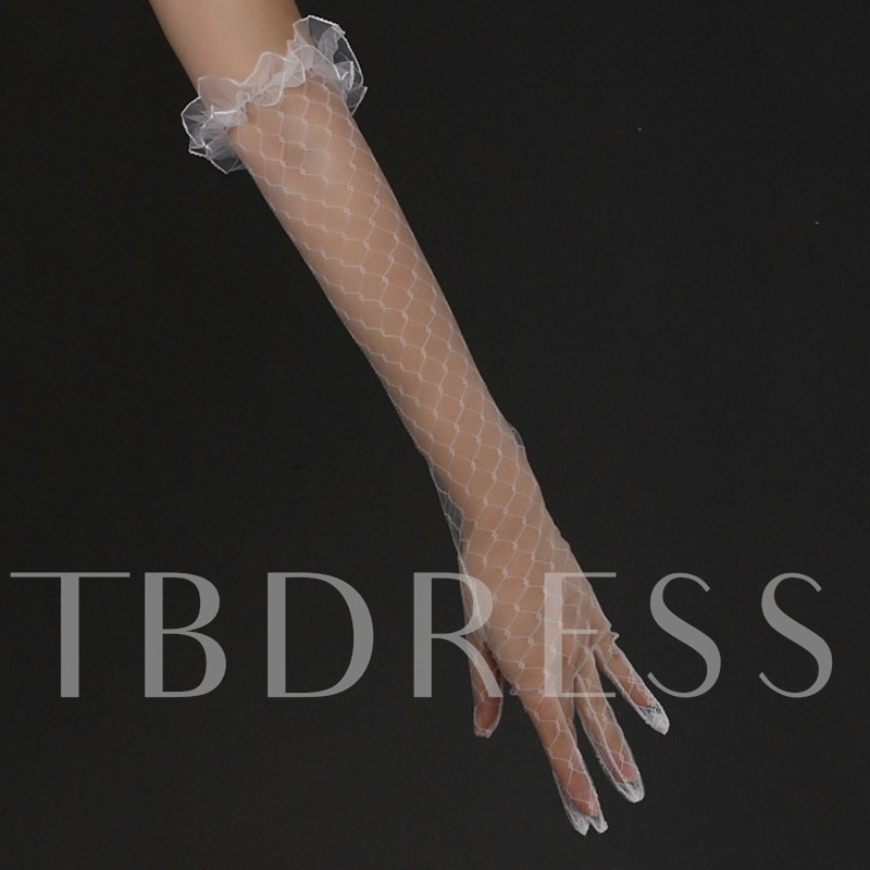 Elbow Finger Lace Wedding Gloves 2019