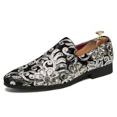 Sequin Slip-On Round Toe Trendy Prom Shoes for Men