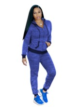 Hood Pockets Long Sports Set for Women