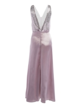 V-Neck Sleeveless Sequins Women's Maxi Dress