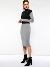 Plain Elegant Vest Bodycon Women's Two Piece Sets