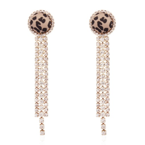 Leopard European Alloy E-Plating Prom Earrings