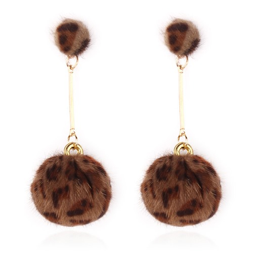 Trend Leopard Pattern Prom Drop Earrings