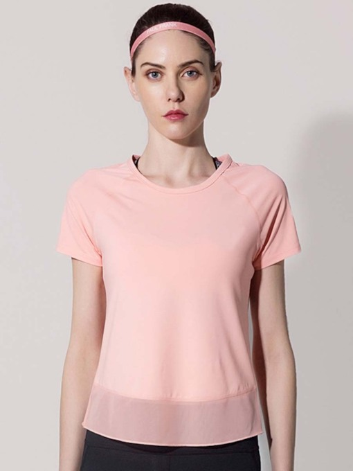 Loose Short Sleeves Quick Dry Women's Sports T-shirt