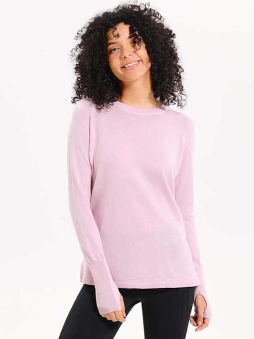 Loose Breathable Hollow Back Solid Tops