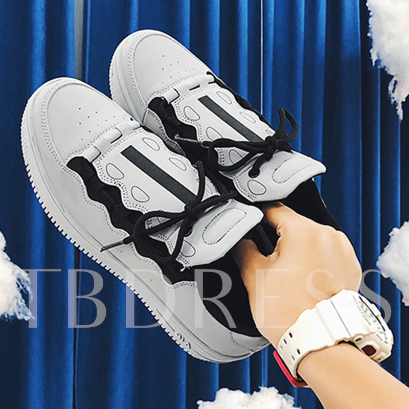 Lace-Up Low-Cut Upper Round Toe Trendy Skate Shoes or Men