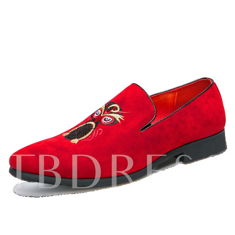 Slip-On Low-Cut Upper Round Toe Stylish Men's Prom Shoes