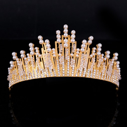 Korean Crown Pearl Wedding Tiara