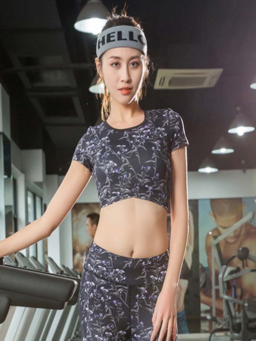 Print Quick Dry Short Tee for Women