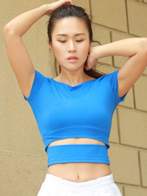 Elastic Tight Half Tee for Women