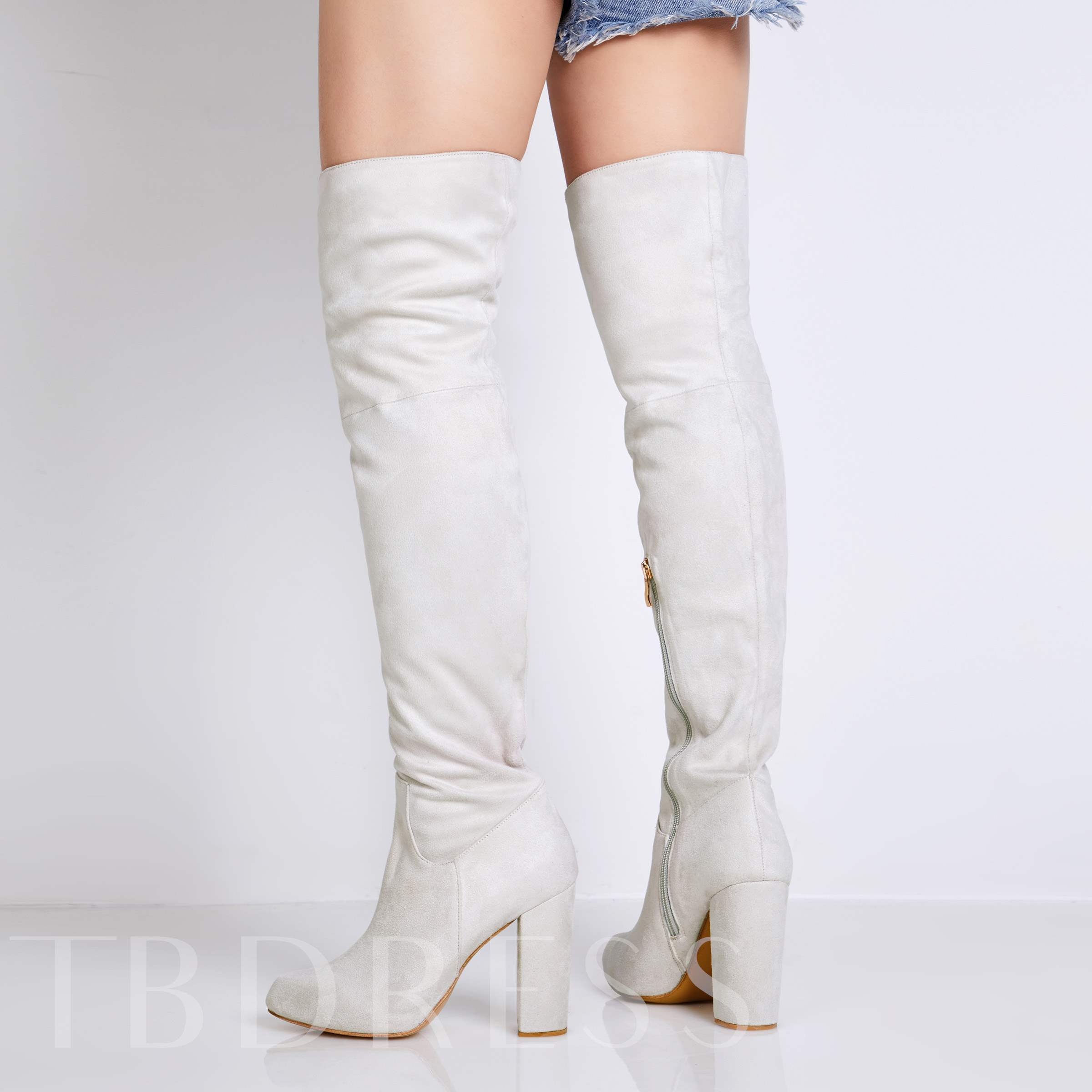 Suede Plain Zipper Winter Women's Boots