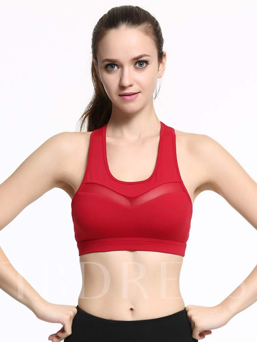 Shockproof Push Up Plain Sports Bra