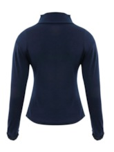 Slim Turtleneck Plain Women's T-Shirt