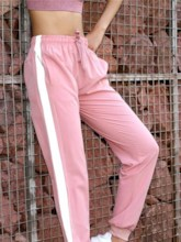 Reflective Strip Slim Sports Women's Long Pants