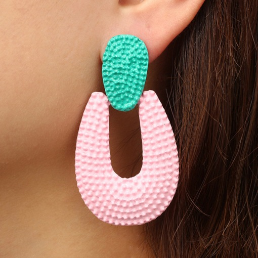 Jelly Candy Color Geometric Shape Personalized Earrings