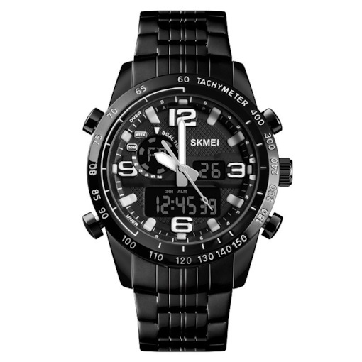 Glass Surface Digital Display Round Watches