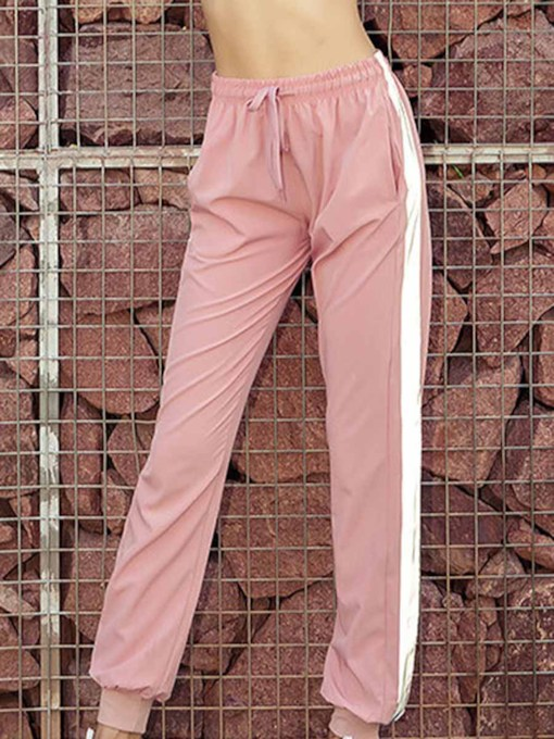 Reflective Strip Slim Women's Sports Pants
