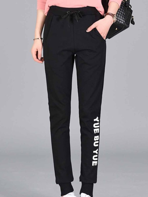 Letter Breathable Pants for Women