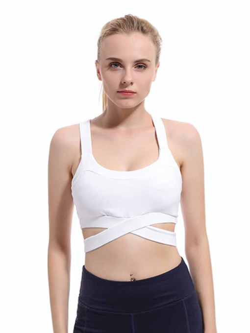 Shockproof ,Absorbent Plain Sports Bra