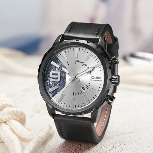 Round Glass Quartz Pin Buckle Alloy Watches