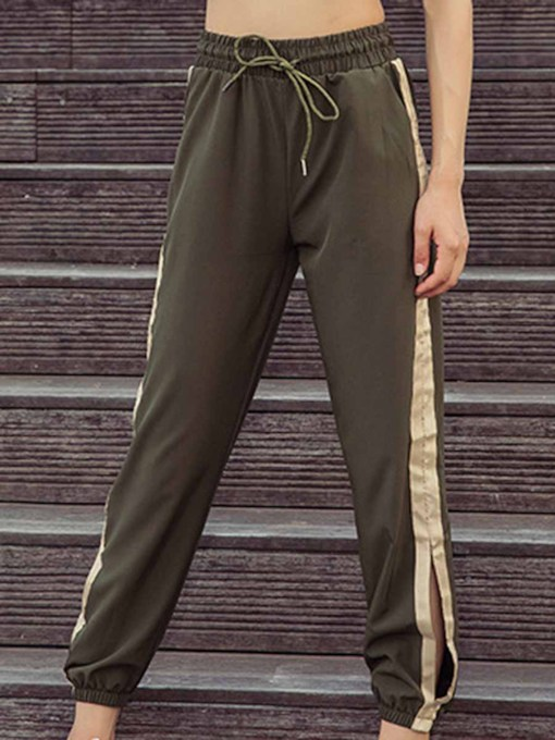 Breathable Fashion Side Open Women's Long Pants