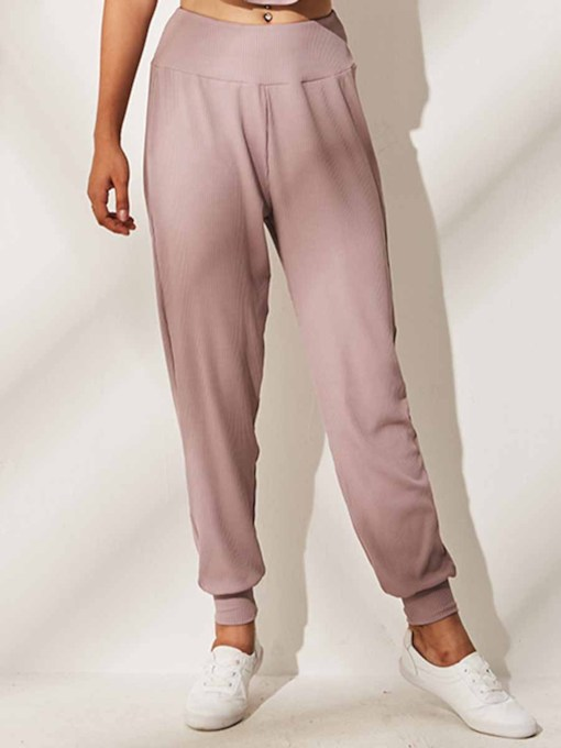 Pleat Solid Women's Sports Pants