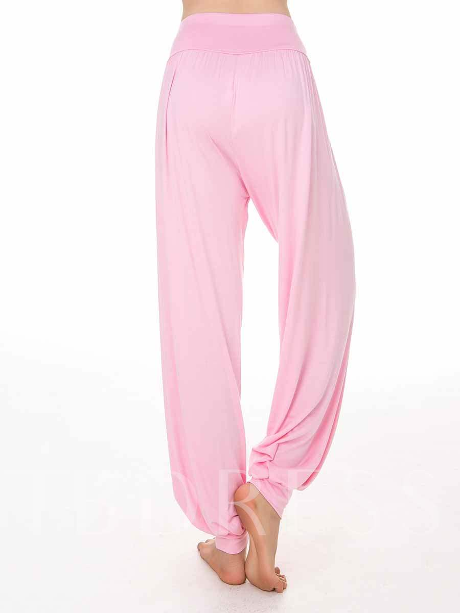 Plus Size Modal Solid Women's Plus Size Yoga Long Bloomer