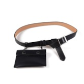 Women Magnetic Snap PU Thread Fanny Pack