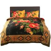 Peony Oil Painting Retro Style 4-Piece 3D Bedding Sets/Duvet Covers