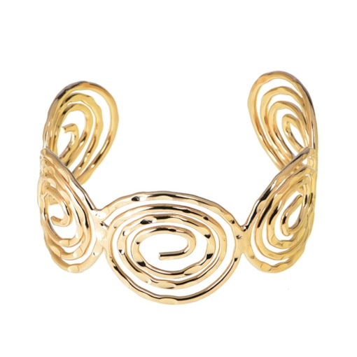 Spiral Shape Golden Metal Women Bracelets