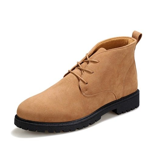 Lace-Up Front Round Toe Fashion Men's Ankle Boots