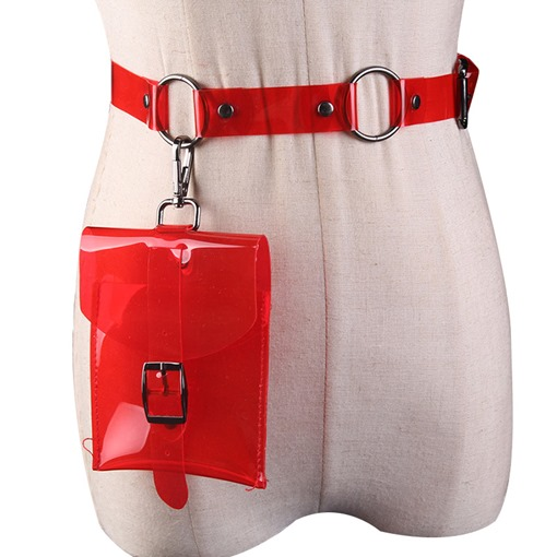 Women ABS Plastic Belt-Decorated Waist Bags