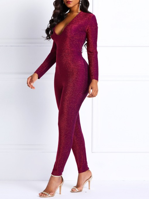 Sexy Full Length High-Waist Slim Women's Jumpsuits