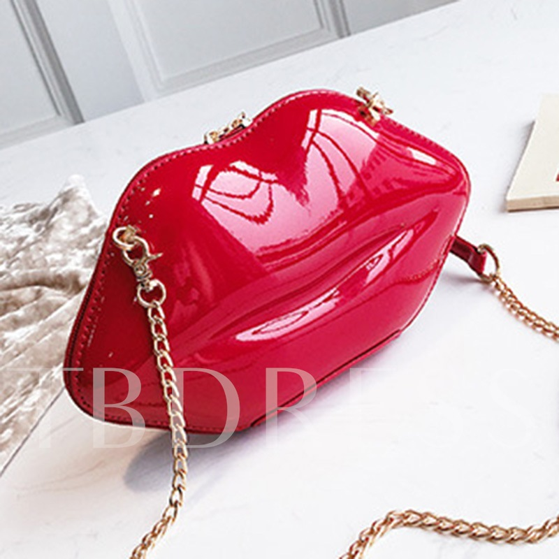 Fashion Plain Chain Crossbody Bags