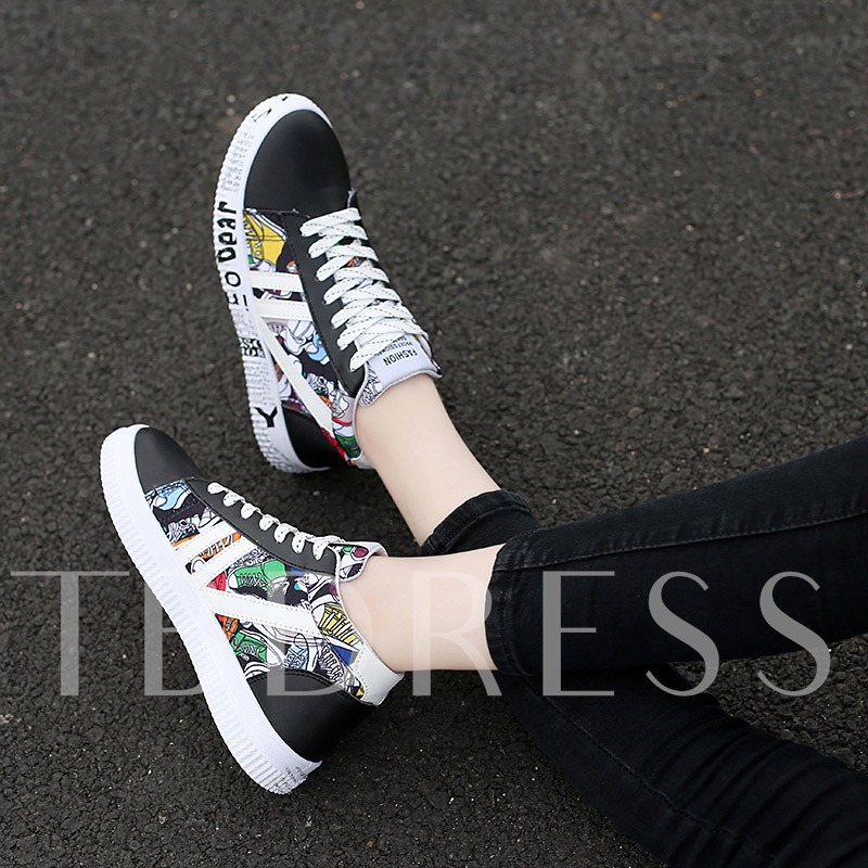Lace-Up Mid-Cut Upper Round Toe Chic Men's Skate Shoes