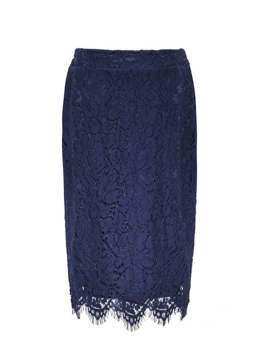 Lace Bodycon Knee-Length Patchwork Women's Skirt
