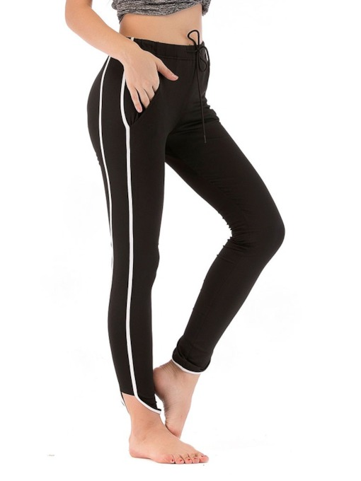 Lace-Up Fashion Polyester Fall Women's Leggings