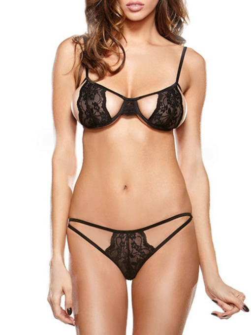 Lace Sexy Three-Point Bra Set