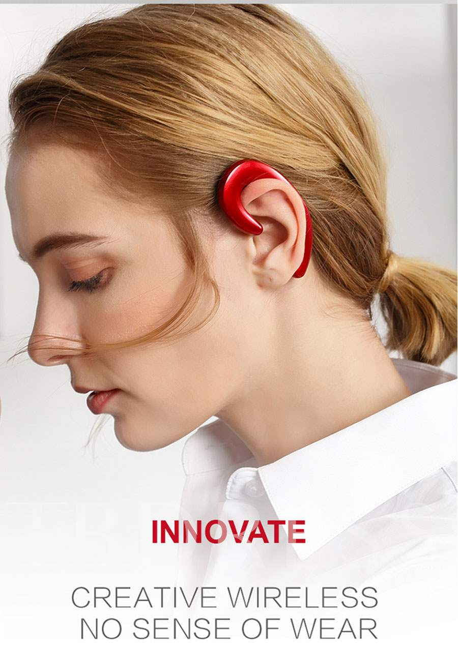 K8 Bone Conduction Earphone Sport Bluetooth Headset Hands free Car Driver earphones Earhook Wireless Earphones With Mic