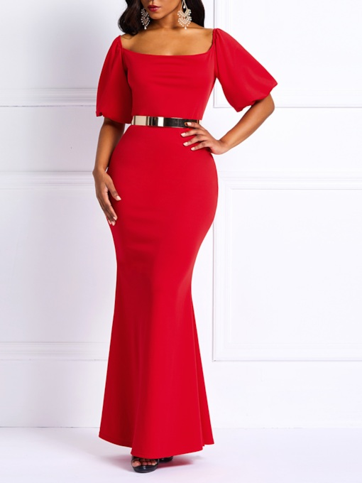 robe maxi femme manches courtes