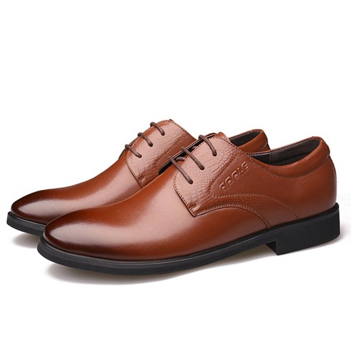 Low-Cut Upper Round Toe Brush Off Versatile Professional Men's Shoes